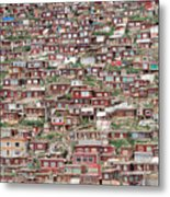 Larung Gar Five Sciences Buddhist Metal Print