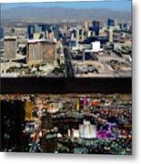 Las Vegas Night And Day Work A Metal Print