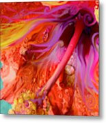 Laughing Hibiscus Metal Print