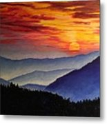 Laurens Sunset And Mountains Metal Print