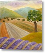 Lavender Sundown Metal Print