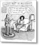 Lawyer Poet In Residence Metal Print