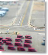 Lax Airport Parking Lot - Tilt Shift Metal Print