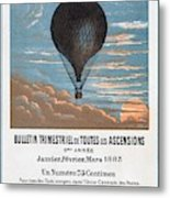 Le Ballon Aeronautical Journal, 1883 French Poster Metal Print