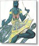 Le Dieu Bleu The Blue God, Ballet Metal Print