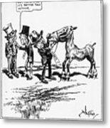 League Of Nations Political Cartoon Metal Print