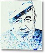 Legendary Hemingway Watercolor Metal Print