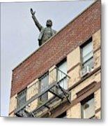 Lenin Statue In East Village N Y C Metal Print