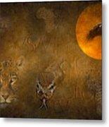Leopards No 01 Metal Print