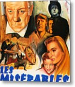 Les Miserables 1958 French Movie Classic Metal Print