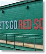 Let's Go Red Sox Metal Print