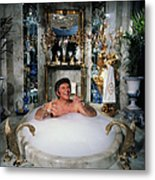 Liberace Taking A Bubble Bath Metal Print
