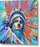 Liberty In Color Metal Print