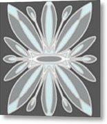 Light Blue Gray Tile Metal Print