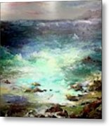 Light Of The Silvery Moon Metal Print
