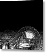 Lightbulb Black And White Metal Print