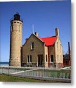 Lighthouse - Mackinac Point Michigan Metal Print