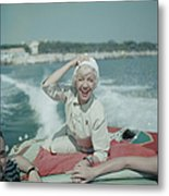 Lily On The Riviera Metal Print