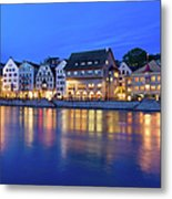 Limmat River Waterfront In Downtown Metal Print