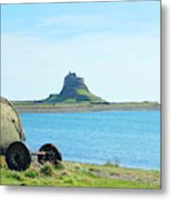 Lindisfarne Castle And Bay Metal Print