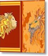 Lion Pair Hot Metal Print