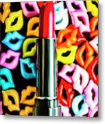 Lipstick Lips Metal Print