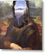 Lisa With A View Metal Print