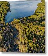 Litte Traverse Lake Vertical Panorama Metal Print