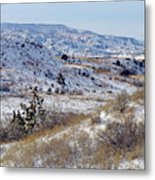 Little Missouri Winter Prairie Metal Print