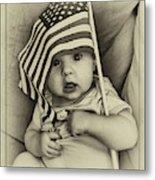 Little Patriot Metal Print