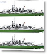 Littorio Class Battleships Port Side Metal Print