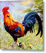 Local Chickens Metal Print