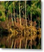 Loch Lundie Digital Painting Metal Print