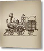 Locomotive. Vector Format Metal Print
