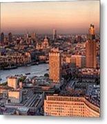 London Cityscape At Sunset Metal Print