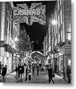 London Nightlife Carnaby Street London Uk United Kingdom Black And White Metal Print