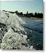 Look Into The Wave Metal Print