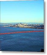 Looking Down At The San Francisco Bridge Metal Print