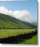 looking down Ettrick valley in Selkirkshire in summer Metal Print