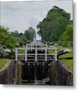 Looking Up Caen Hill Metal Print