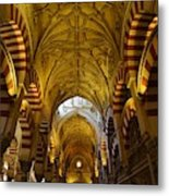 Looking Up Within The Cordoba Mezquita Metal Print