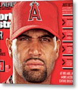 Los Angeles Angels Of Anaheim Albert Pujols, 2012 Mlb Sports Illustrated Cover Metal Print