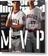 Los Angeles Angels Of Anaheim Mike Trout And Shohei Ohtani Sports Illustrated Cover Metal Print