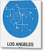 San Francisco Blue Subway Map Metal Print