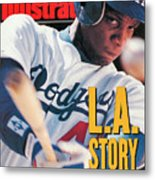 Los Angeles Dodgers Darryl Strawberry Sports Illustrated Cover Metal Print