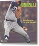 Los Angeles Dodgers Fernando Valenzuela... Sports Illustrated Cover Metal Print