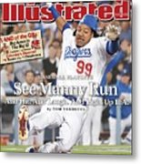 Los Angeles Dodgers Manny Ramirez, 2008 Nl Division Series Sports Illustrated Cover Metal Print
