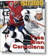 Los Angeles Kings Tomas Sandstrom, 1993 Nhl Stanley Cup Sports Illustrated Cover Metal Print