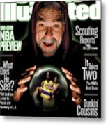 Los Angeles Lakers Coach Phil Jackson, 1999-2000 Nba Sports Illustrated Cover Metal Print