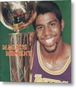 Los Angeles Lakers Earvin Magic Johnson, 1980 Nba Finals Sports Illustrated Cover Metal Print